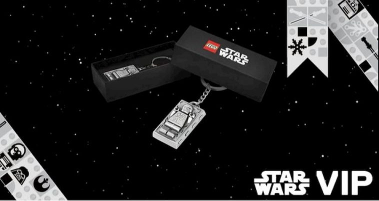 LEGO VIP Han Solo Carbonite Metal Keyring