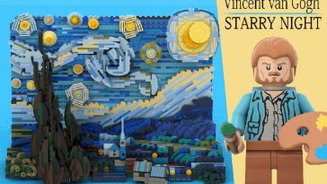 LEGO Vincent Van Gogh Starry Night