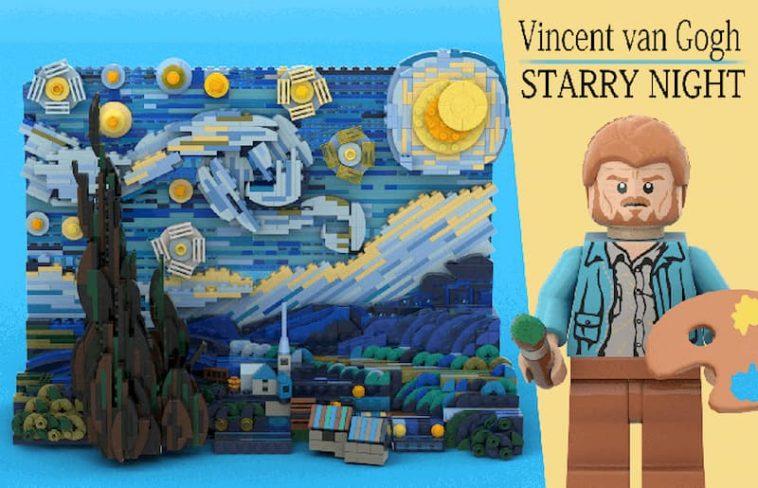 LEGO Vincent Van Gogh Starry Night