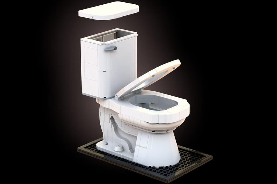 LEGO Ideas Toilet